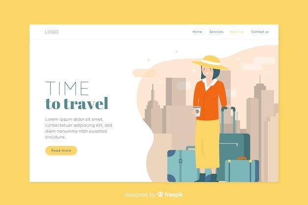 Plantilla web de página de destino itinerante