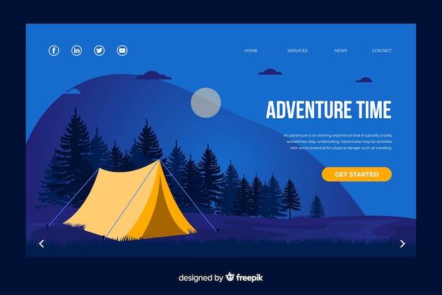 Plantilla web de página de destino de viaje