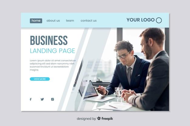 Plantilla web para página de inicio de negocios