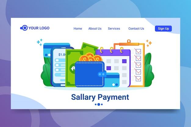 Plantilla web de pago salario