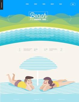 Plantilla web de playa