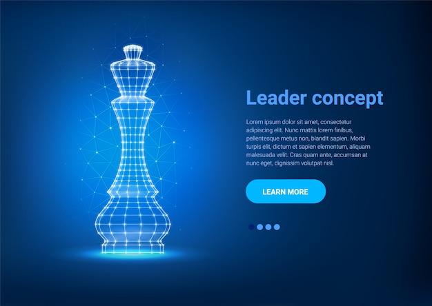 Plantilla web poligonal de ajedrez reina