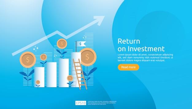 Plantilla web de retorno de la inversión roi
