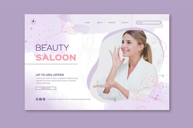 Plantilla web de salón de belleza