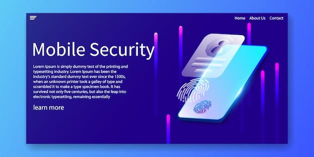 Plantilla web de seguridad móvil