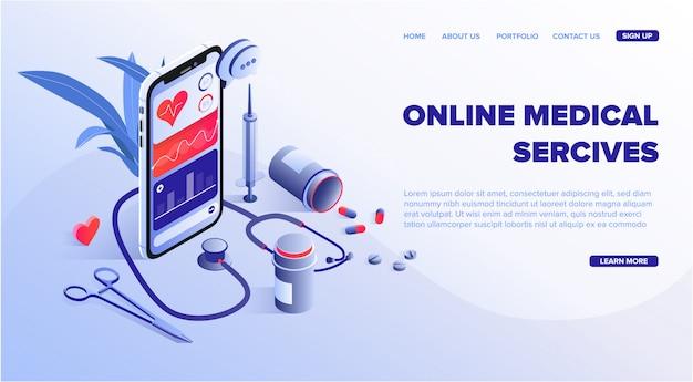 Plantilla web de servicios médicos en línea