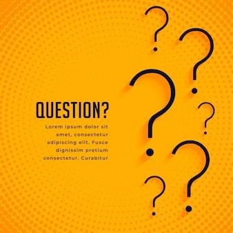 Plantilla web de signo de interrogación de ayuda y soporte