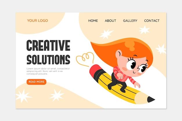 Plantilla web de soluciones creativas orgánicas