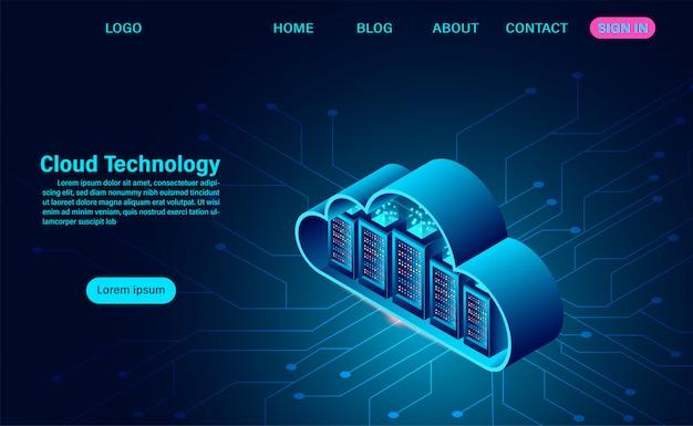 Plantilla web de tecnología informática en línea