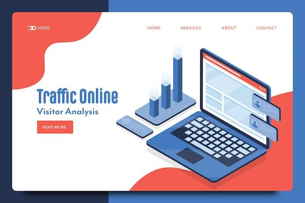 Plantilla web de tráfico en línea
