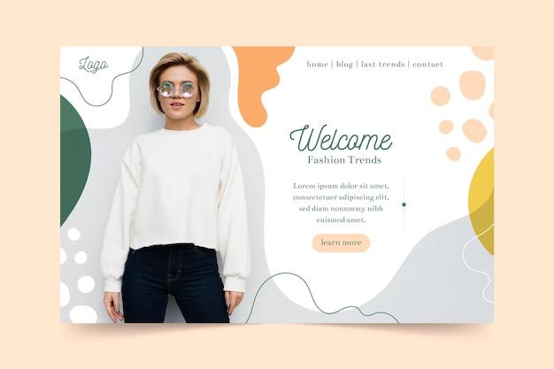 Plantilla web de venta de moda