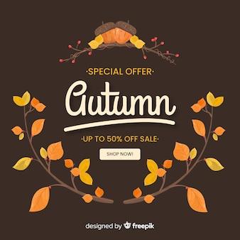 Plantilla web de venta de otoño