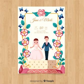 Plantillad de invitación de boda