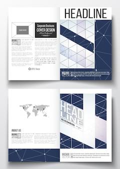 Plantillas a4 para la estructura de conexión del folleto