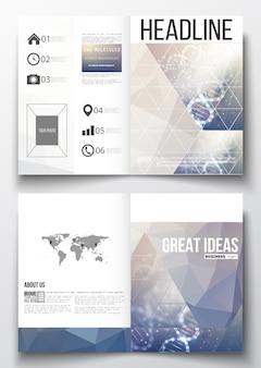 Plantillas a4 para folleto con fondos poligonales