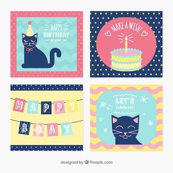 Plantillas adorables de tarjetas de cumpleaños