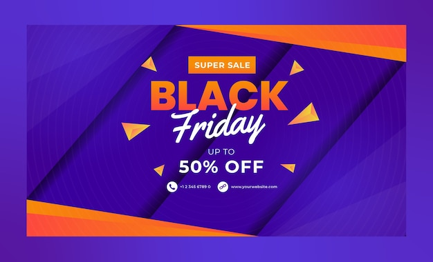 Plantillas de banner de super sale black friday para redes sociales