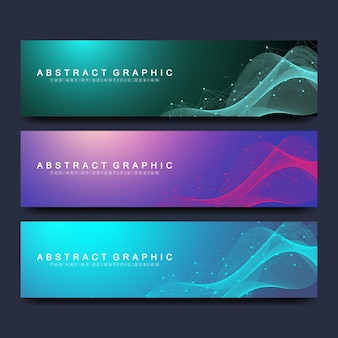Plantillas de banners abstractos para sitio web