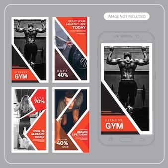 Plantillas de banners de fitness gym en instagram