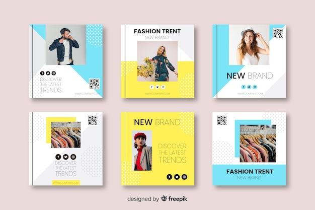 Plantillas de banners de moda para redes sociales