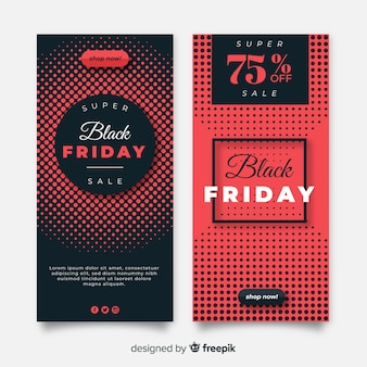 Plantillas de banners de rebajas de black friday
