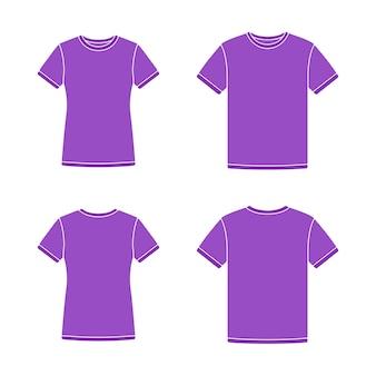 Plantillas de camisetas de manga corta moradas