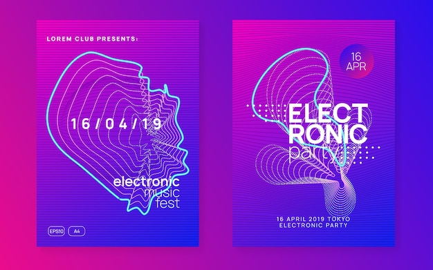 Plantillas de carteles de electro sonido