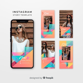 Plantillas coloridas de instagram stories