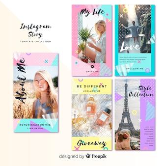 Plantillas coloridas de instagram stories