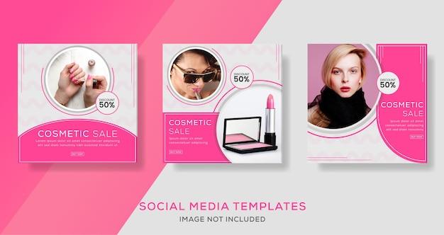 Plantillas cosméticas de redes sociales