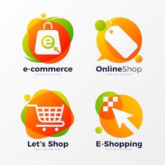 Plantillas creativas de logotipos de tiendas online