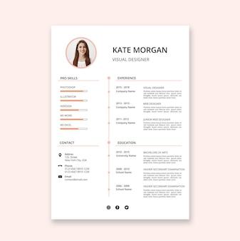Plantillas de currículum de estilo minimalista