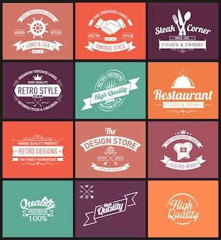 Plantillas de diseño de logotipos vintage