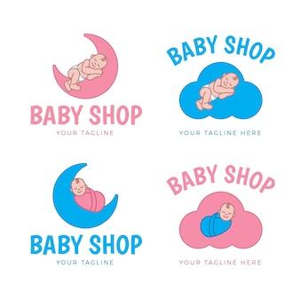 Plantillas detalladas de logotipos de bebés