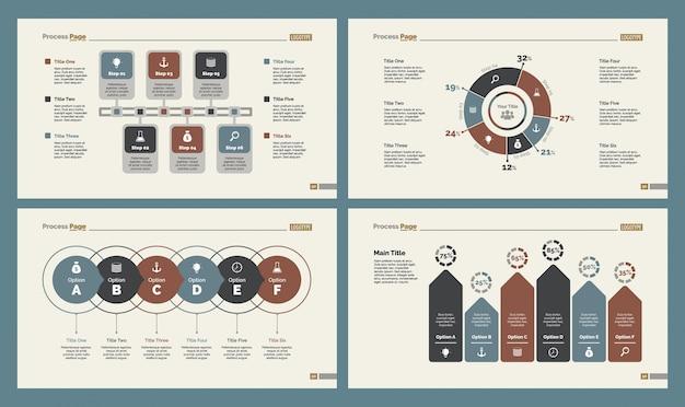 Plantillas de diapositivas de cuatro cuentas establecidas
