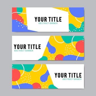 Plantillas de diseño de banner colorido y abstracto