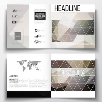 Plantillas de diseño cuadrado para folleto