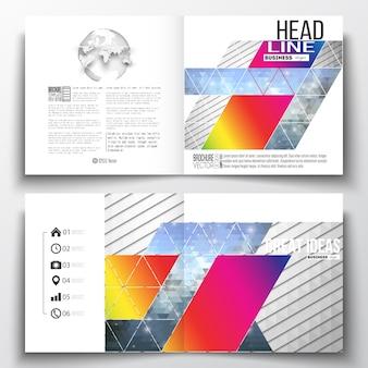 Plantillas de diseño cuadrado para folleto.