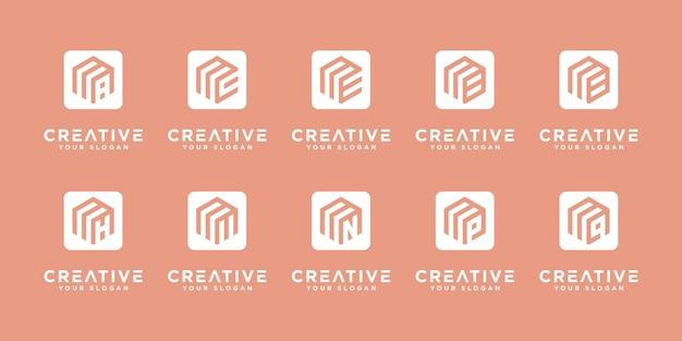 Plantillas de diseño de logotipo creativo m. logo para su identidad de marca.