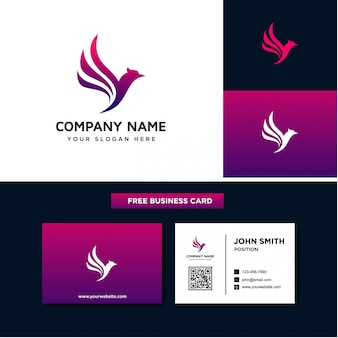 Plantillas de diseño de logotipo flying bird