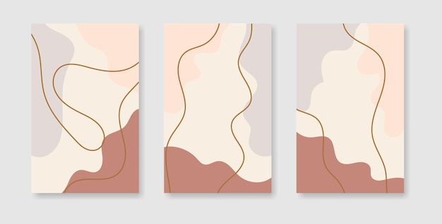Plantillas de diseño de portadas creativas abstractas para historias de redes sociales.