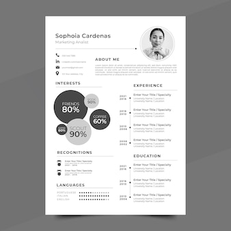 Plantillas de documentos de aplicación estilo minimalista