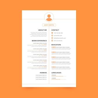 Plantillas de documentos de aplicaciones de estilo minimalista