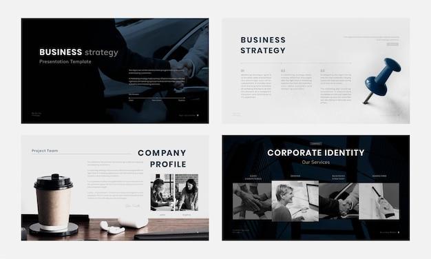 Plantillas editables de presentación de marketing empresarial