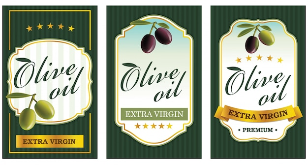 Plantillas de etiquetas de aceite de oliva.