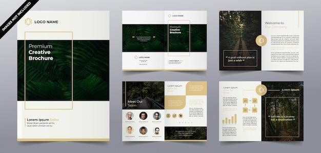 Plantillas de folleto de naturaleza simple y moderna