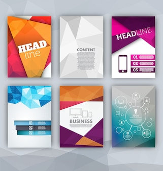 Plantillas de folletos coloridos