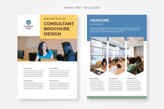 Plantillas de folletos para consultores gratis