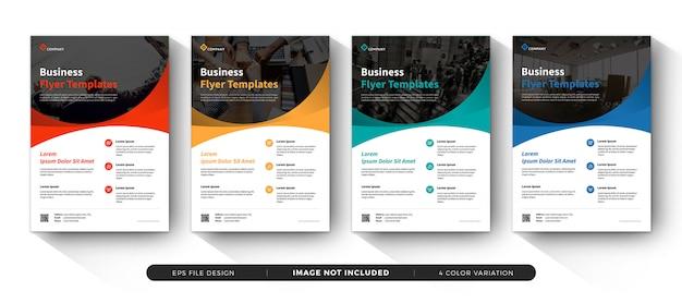 Plantillas de folletos de negocios corporativos