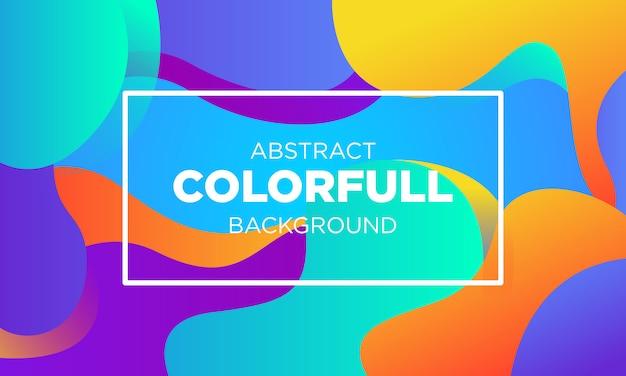 Plantillas de fondo abstracto fluido degradado colorido